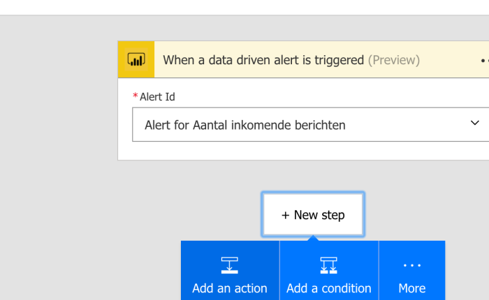 Smartdata flow with IoT Hub, Stream Analytics, Power BI data alerts and Microsoft Flow